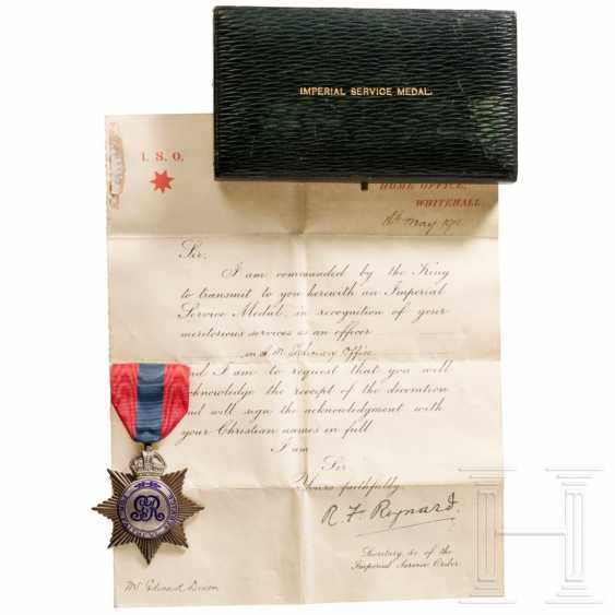 Great Britain - Imperial Service Medal with Certificate, dated 1913 - photo 1