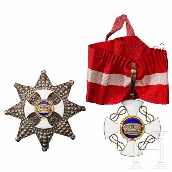 Order of the Crown of Italy - breast star and cross of the Grand Officer's, around 1940 - photo 3