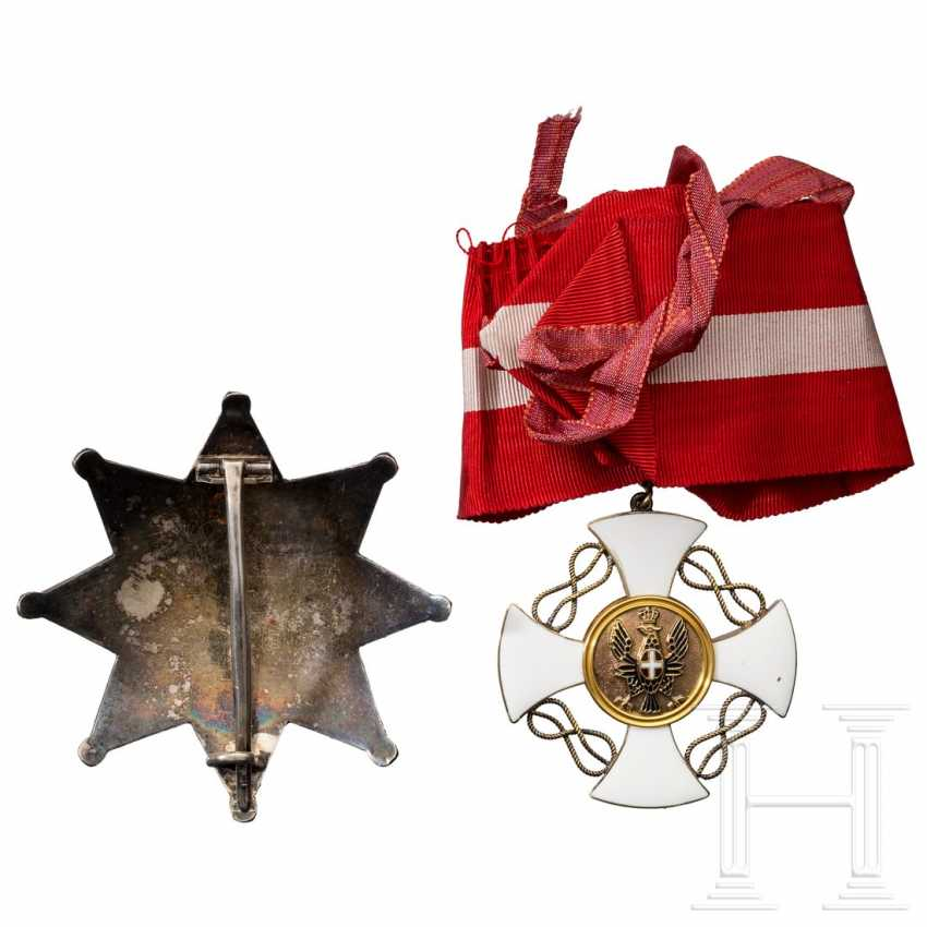 Order of the Crown of Italy - breast star and cross of the Grand Officer's, around 1940 - photo 4