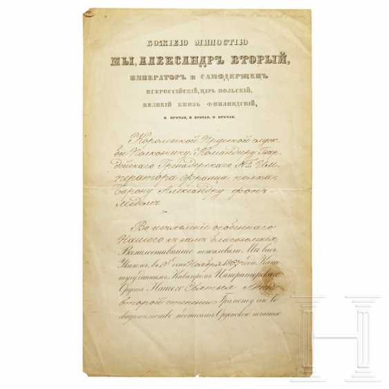 Two certificates for the Order of St. Anna 1st class and 2nd class, Russia, dated 1834 and 1867 - photo 2