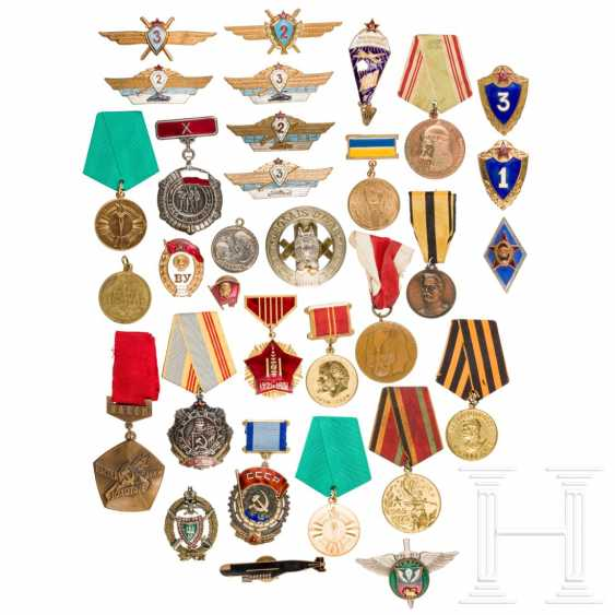 Large group of awards and shoulder boards, mostly Soviet Union, 2nd half of the 20th century - photo 1