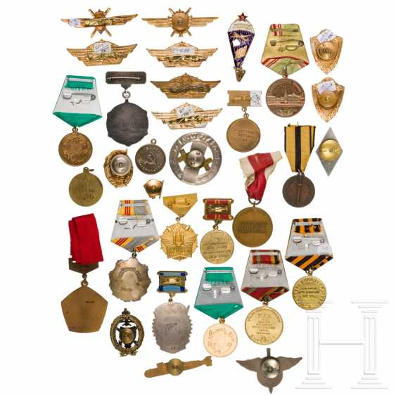 Large group of awards and shoulder boards, mostly Soviet Union, 2nd half of the 20th century - photo 3