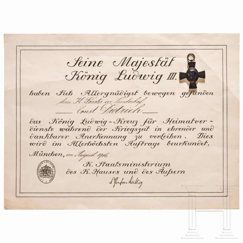 King Ludwig Cross 1916 with certificate - photo 1