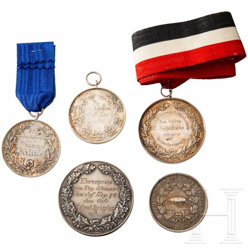 Five shooting award medals - photo 2