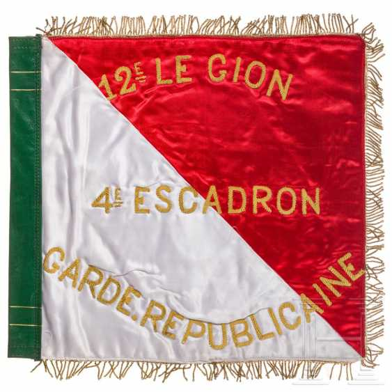 Flag of the 4th Squadron of the Républicaine Guard, around 1980 - photo 1