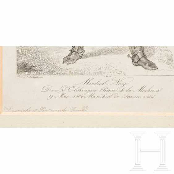 Contemporary watercolor of Napoleon and engraving by Ney - photo 4