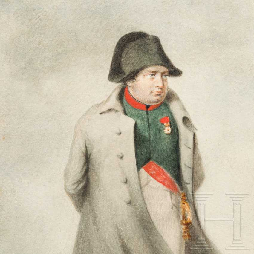 Contemporary watercolor of Napoleon and engraving by Ney - photo 5