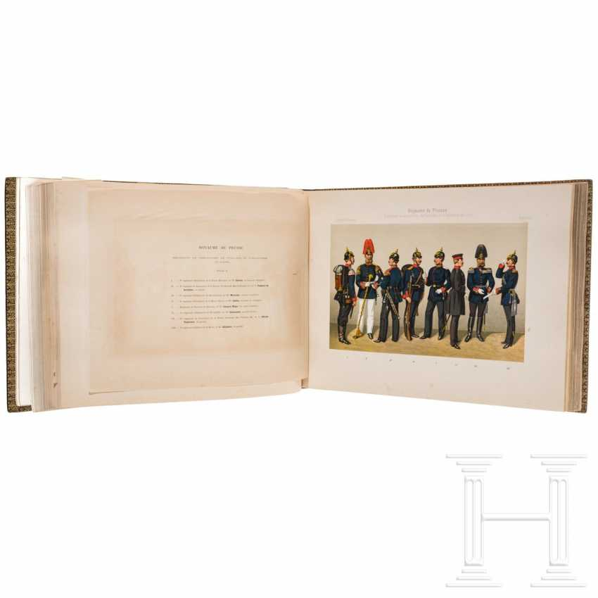 Book about the uniforms of the German army under Kaiser Wilhelm II., In French - photo 2