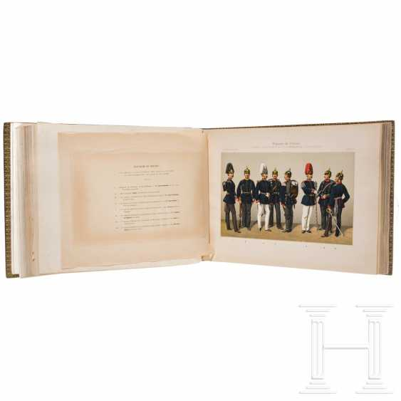Book about the uniforms of the German army under Kaiser Wilhelm II., In French - photo 3