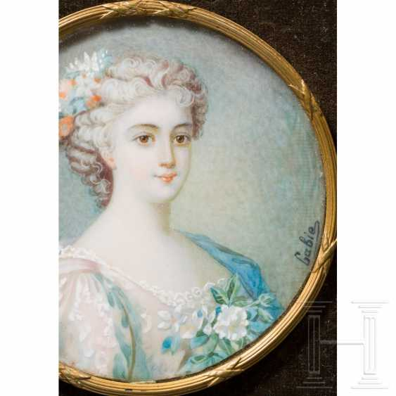 Enrichetta d'Este (1702-77) - portrait miniature on ivory of the Princess of Modena, late 19th century - photo 2
