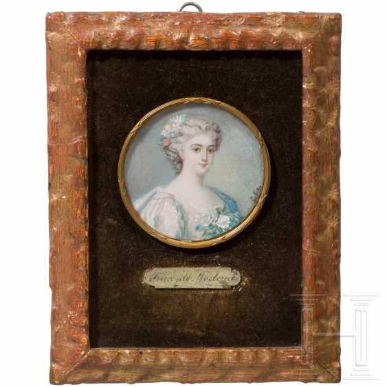 Enrichetta d'Este (1702-77) - portrait miniature on ivory of the Princess of Modena, late 19th century - photo 3
