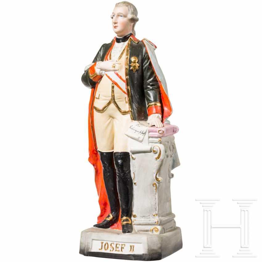 Emperor Joseph II - colored ceramic figure - photo 1