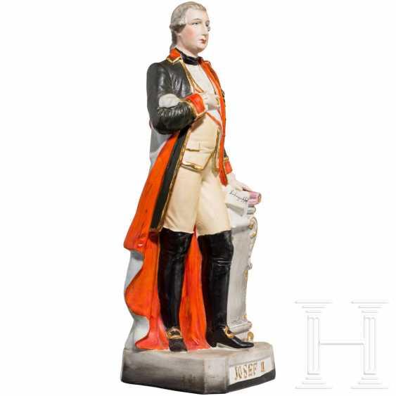 Emperor Joseph II - colored ceramic figure - photo 2