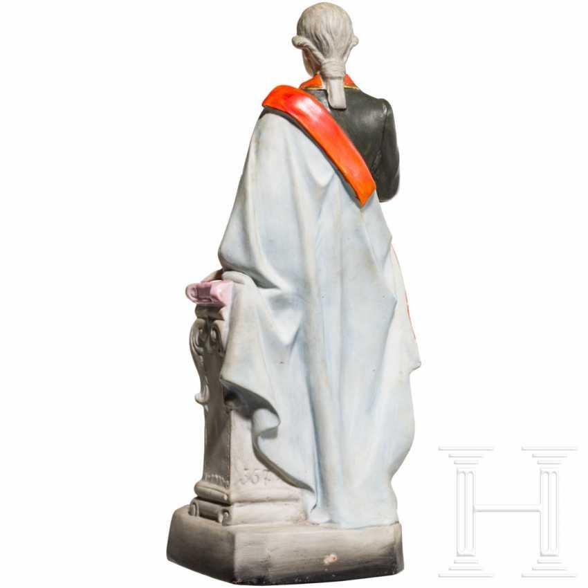 Emperor Joseph II - colored ceramic figure - photo 3