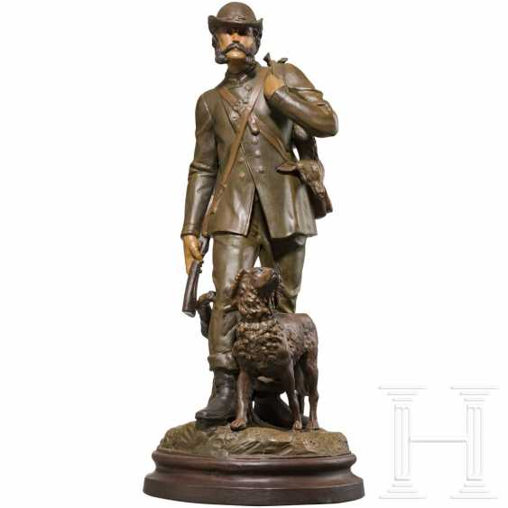 Emperor Franz Joseph I of Austria - colored ceramic figure of the emperor as a hunter - photo 1