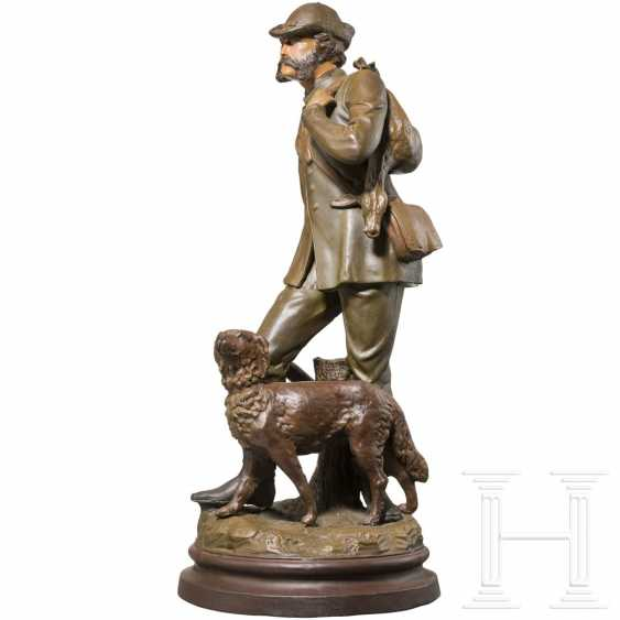 Emperor Franz Joseph I of Austria - colored ceramic figure of the emperor as a hunter - photo 2