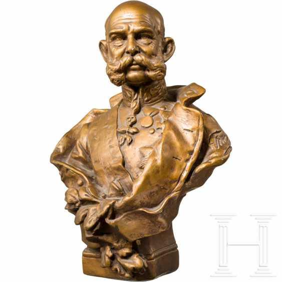 Emperor Franz Joseph I of Austria - gold-bronze plaster bust - photo 1