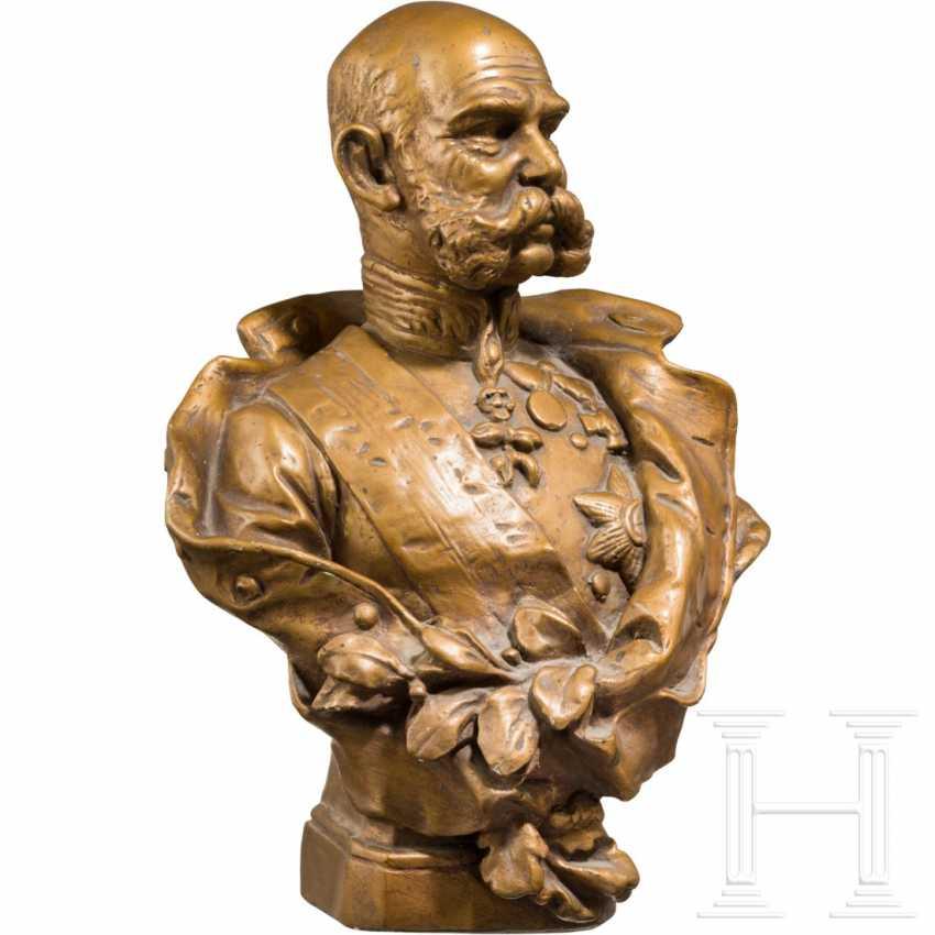 Emperor Franz Joseph I of Austria - gold-bronze plaster bust - photo 2