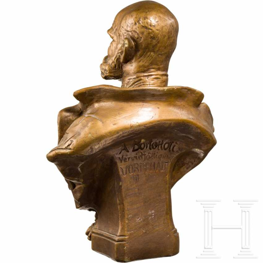 Emperor Franz Joseph I of Austria - gold-bronze plaster bust - photo 3