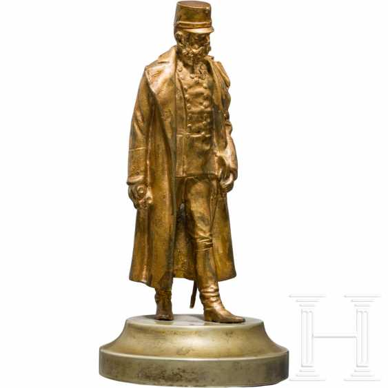Emperor Franz Joseph I of Austria - small, gilded bronze bust - photo 1