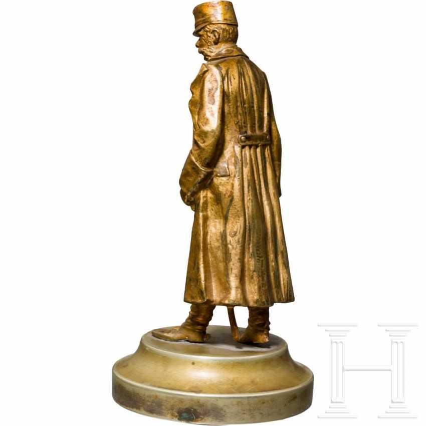 Emperor Franz Joseph I of Austria - small, gilded bronze bust - photo 2