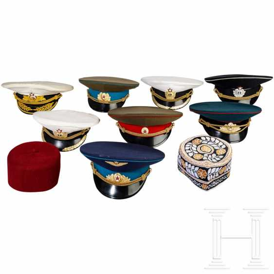 Eight visor caps, mostly for officers, Soviet Russia - photo 1