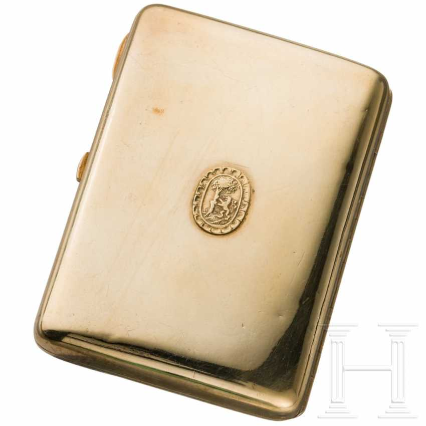 Nielloed silver cigarette case, around 1910 - photo 2