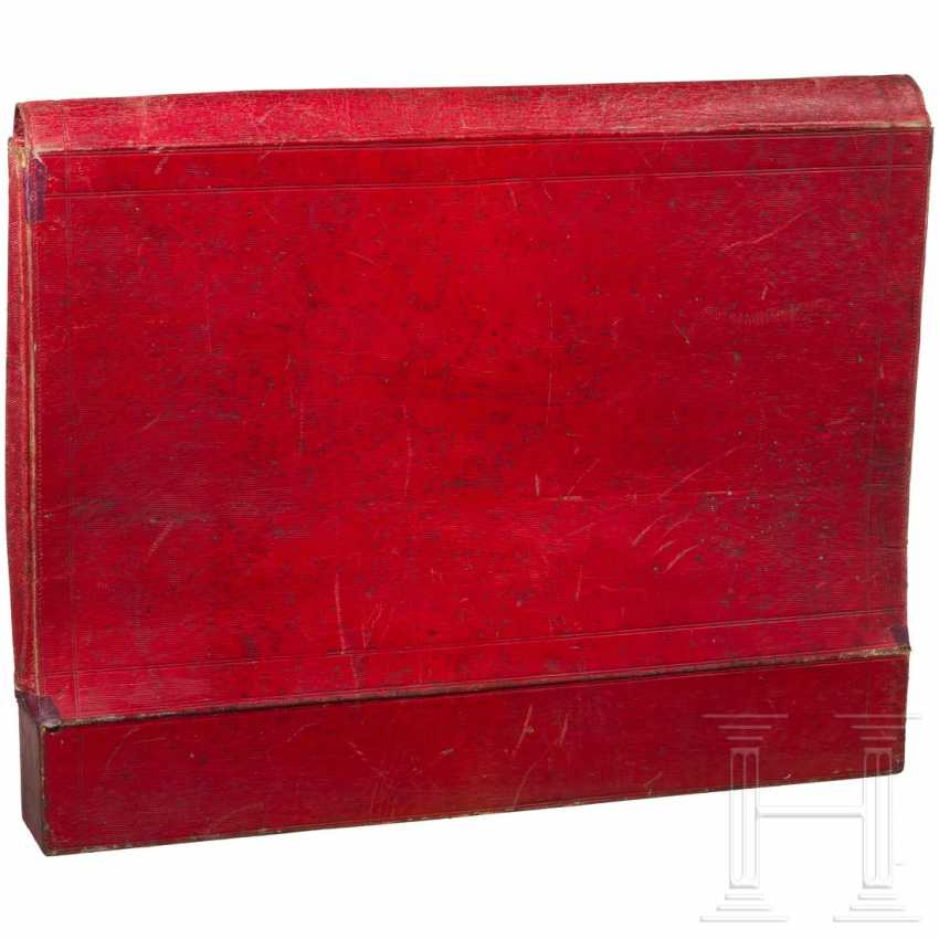 Document case made of red leather, probably Russia, 1st third of the 19th century - photo 3