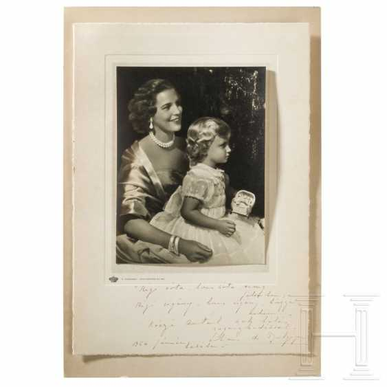 Belgium - Mary Lilian Baels, Princess of Réthy, autograph from 1954 - photo 1