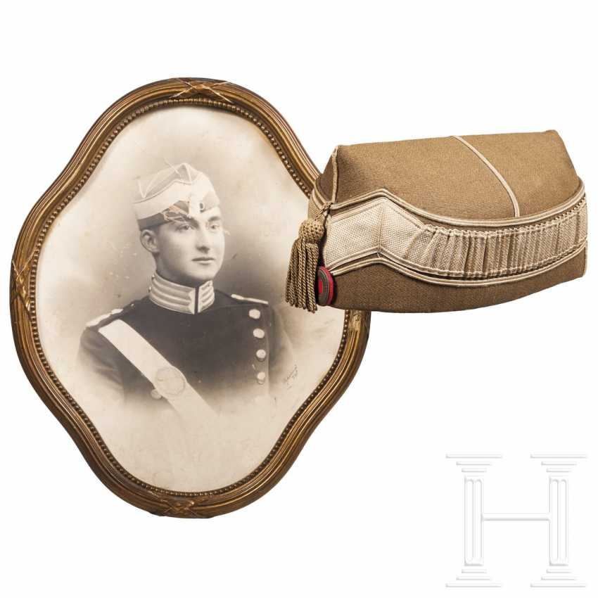 Benelux countries - headgear for a cavalryman, carrier photo in the frame - photo 1
