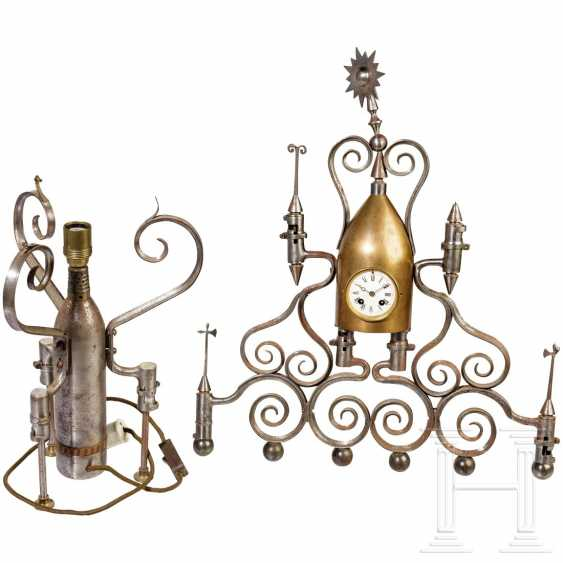 Patriotic table clock and lamp, 19th century - photo 1