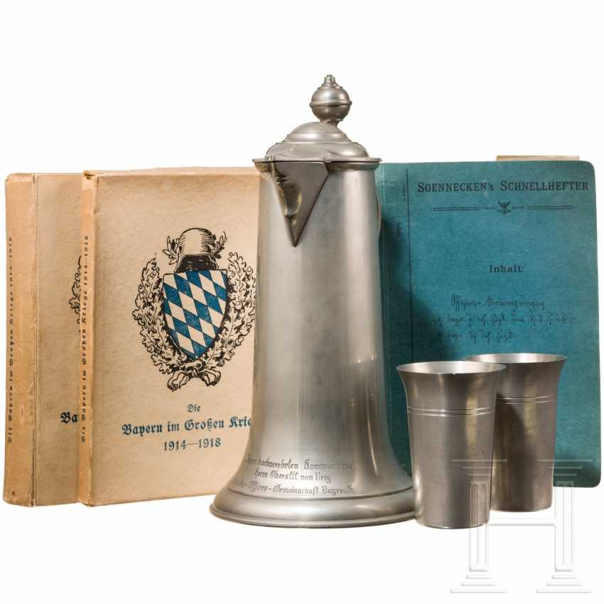 Bavarian officers' associations - tin present, documents, book, 1st half of the 20th century - photo 1