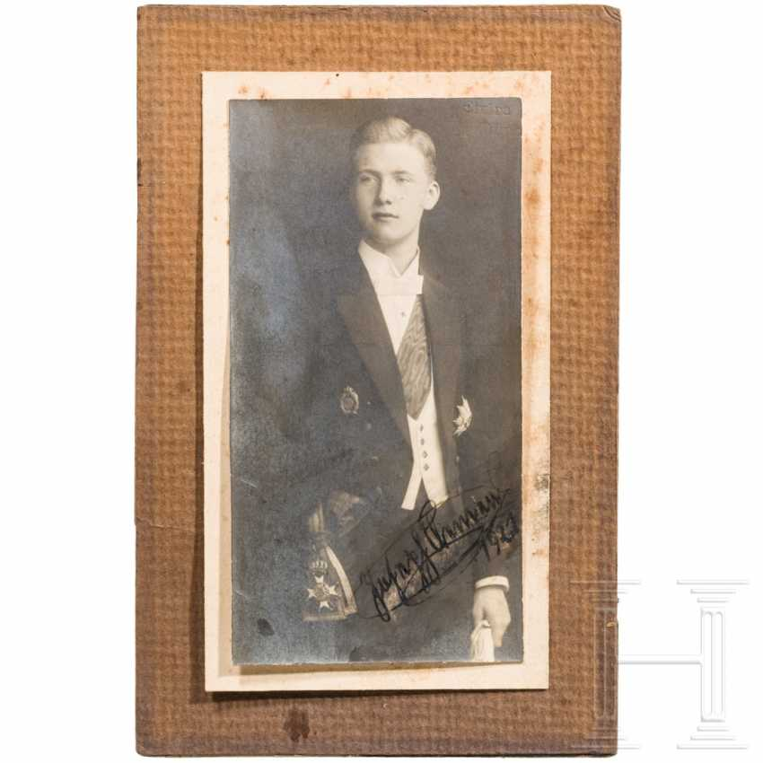 Prince Joseph Clemens of Bavaria (1902-1990) - signed portrait photo, dated 1921 - photo 1