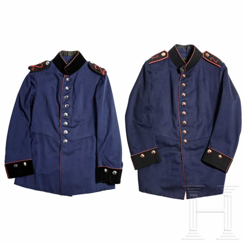 Prussia - two skirts for teams of the field artillery / pioneers or officials, around 1900 - photo 1
