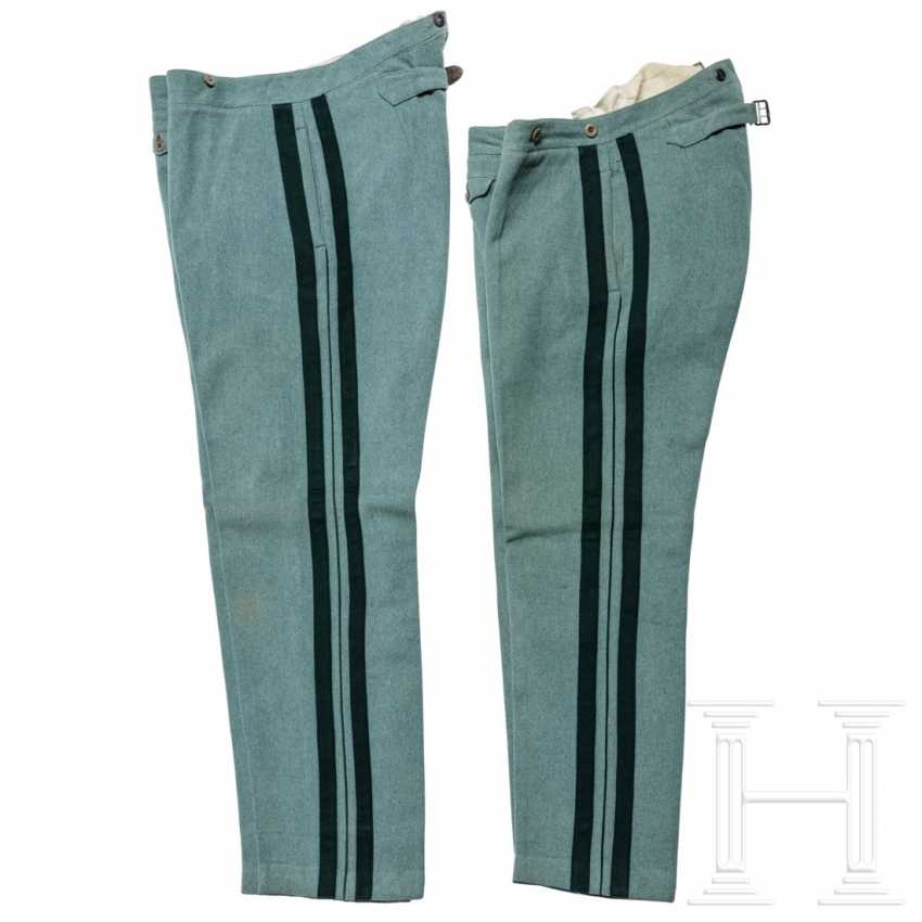 Prussia - two cloth trousers for officers of the hunter, around 1910 - photo 2