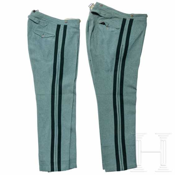 Prussia - two cloth trousers for officers of the hunter, around 1910 - photo 1
