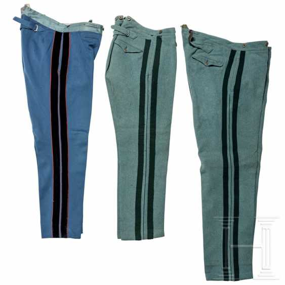 Prussia - three cloth trousers for officers, 1st quarter of the 20th century - photo 1