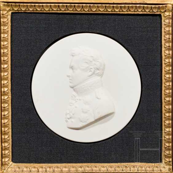 Porcelain relief Gneisenau and miniature, Prussia - photo 3