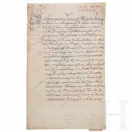 Prussia - King Friedrich Wilhelm I, autograph, dated 23.3.1713 - photo 1