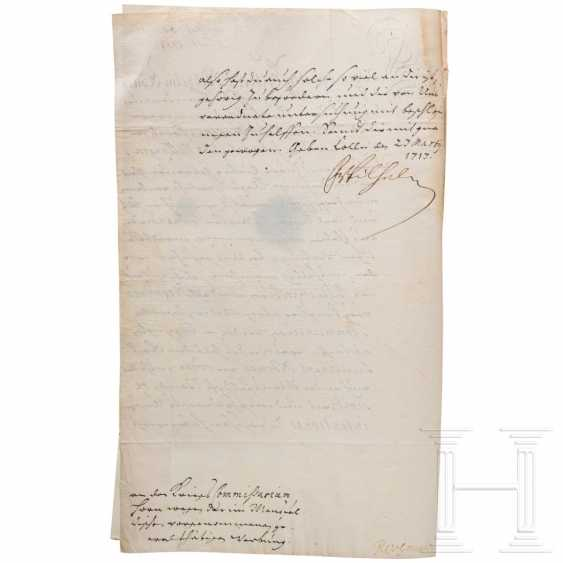 Prussia - King Friedrich Wilhelm I, autograph, dated 23.3.1713 - photo 2
