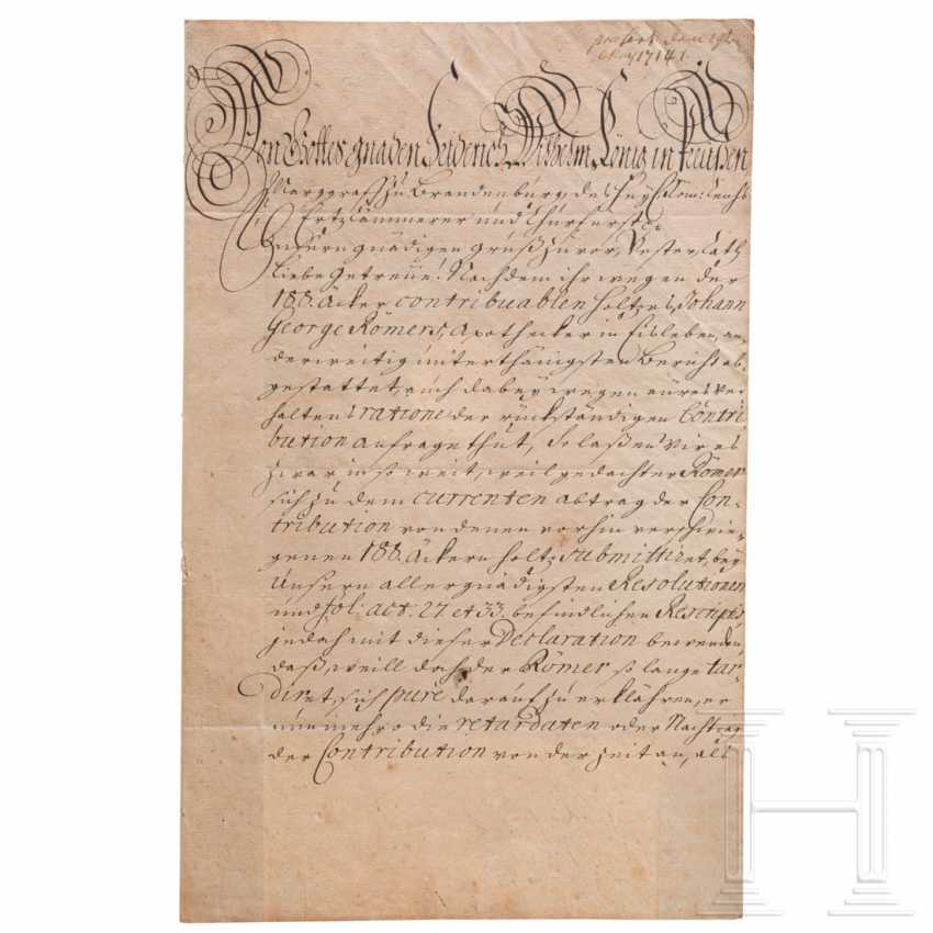 Prussia - King Friedrich Wilhelm I, autograph, dated May 3, 1714 - photo 2