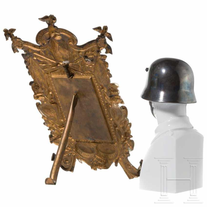 Porcelain bust of the Rosenthal manufactory, CDV photo Regiment Gardes du Corps in a frame - photo 2