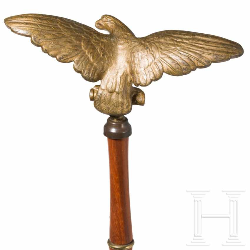 Gilded eagle on a wooden pole - photo 3