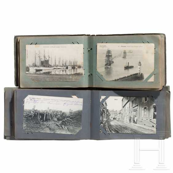First World War - two postcard albums from the estate of gunner Feussner - photo 1