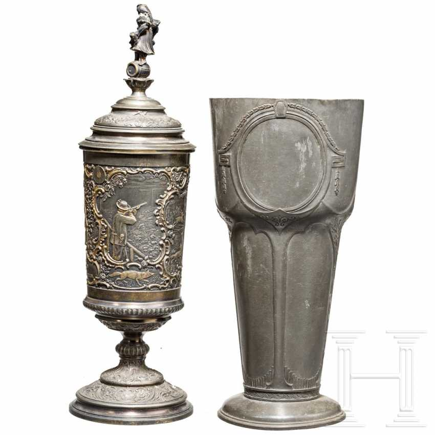 Two pewter shooting cups, 19th century - photo 2
