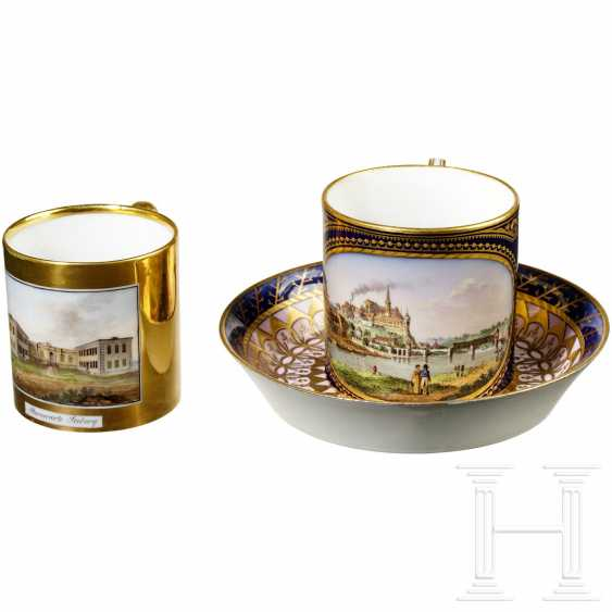 Two cups, Meissen and Gotha, 1st half of the 19th century - photo 3