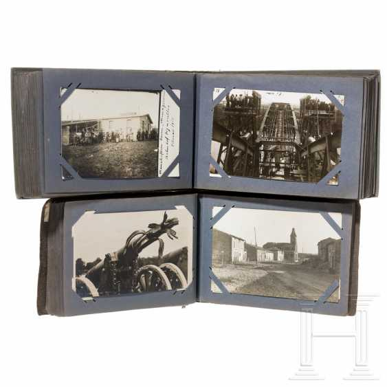 Two photo albums - Railway Construction Company No. 5 - Used in France during World War I - photo 1