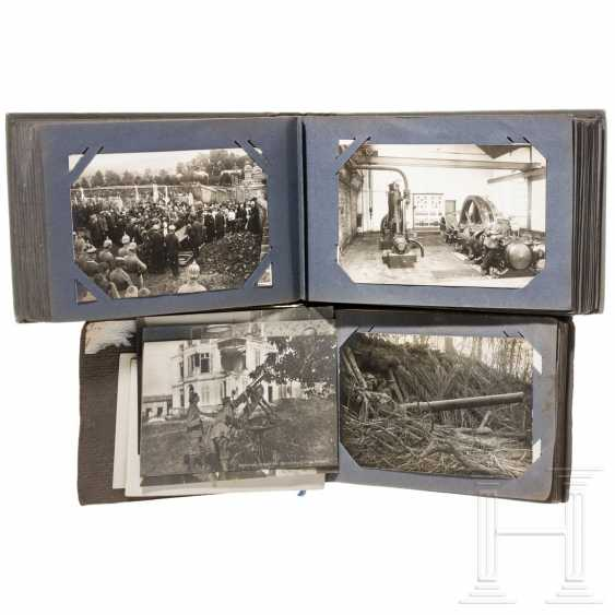 Two photo albums - Railway Construction Company No. 5 - Used in France during World War I - photo 2