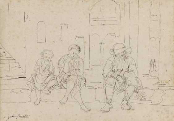 Johann Georg von Dillis - Street scene in Grottaferrata - photo 1