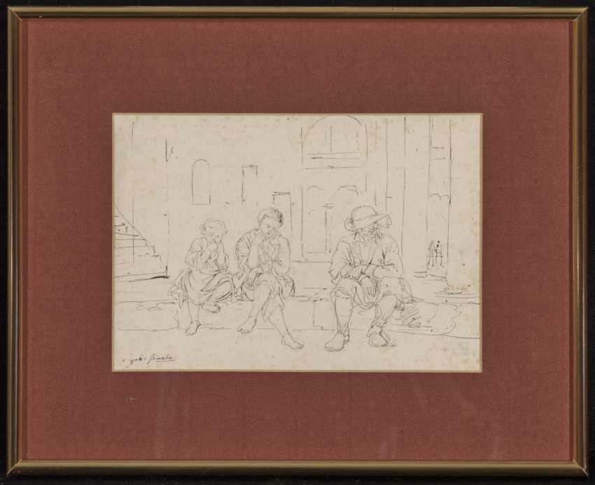 Johann Georg von Dillis - Street scene in Grottaferrata - photo 2